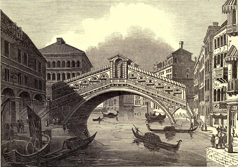 Grabado con CNC de una pintura de Venecia en DM
