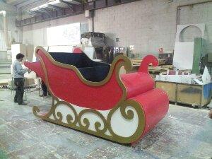 Mecanizado CNC Trineo Papa Noel