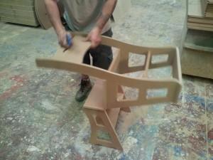 Silla convertible en escalera dise o programaci n y for Silla escalera plegable planos