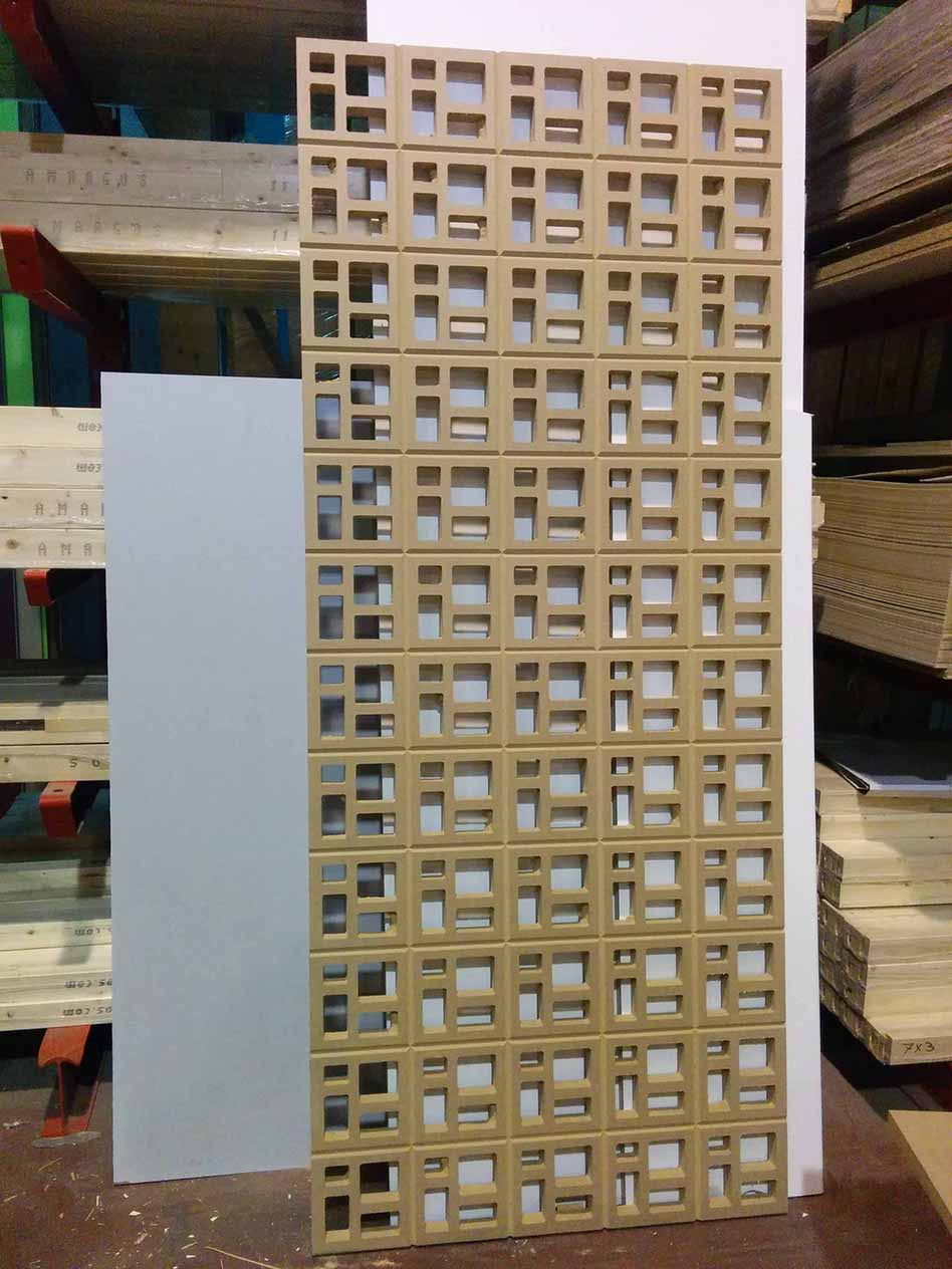 Biombo o separador para dividir ambientes dise o - Biombo de carton ...
