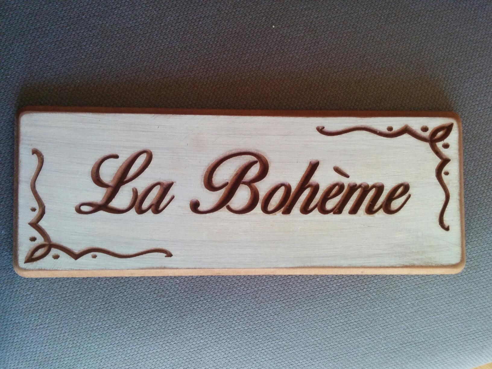 Carteles personalizados en madera La  Boheme