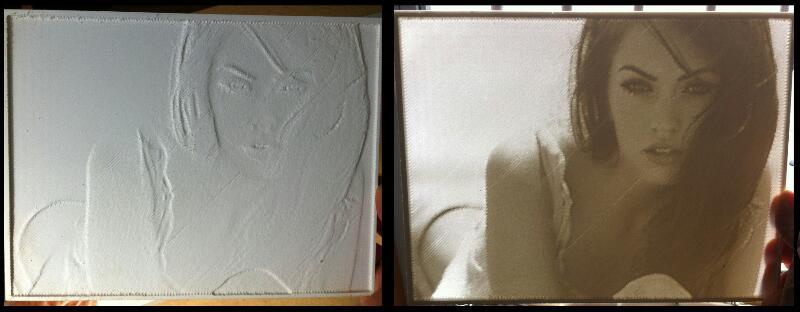 Litofania fotografia retroiluminada en pvc