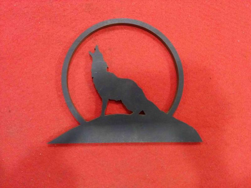 CNC Laser corte hierro lobo