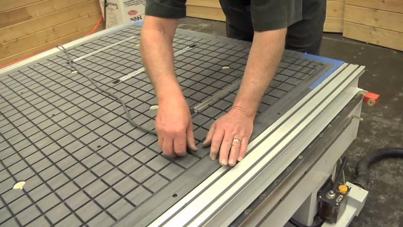 mesa de vacío CNC