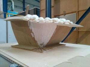 Montaje molde 3D para fibra vidrio
