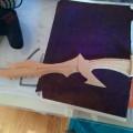 Espada Daedra en madera