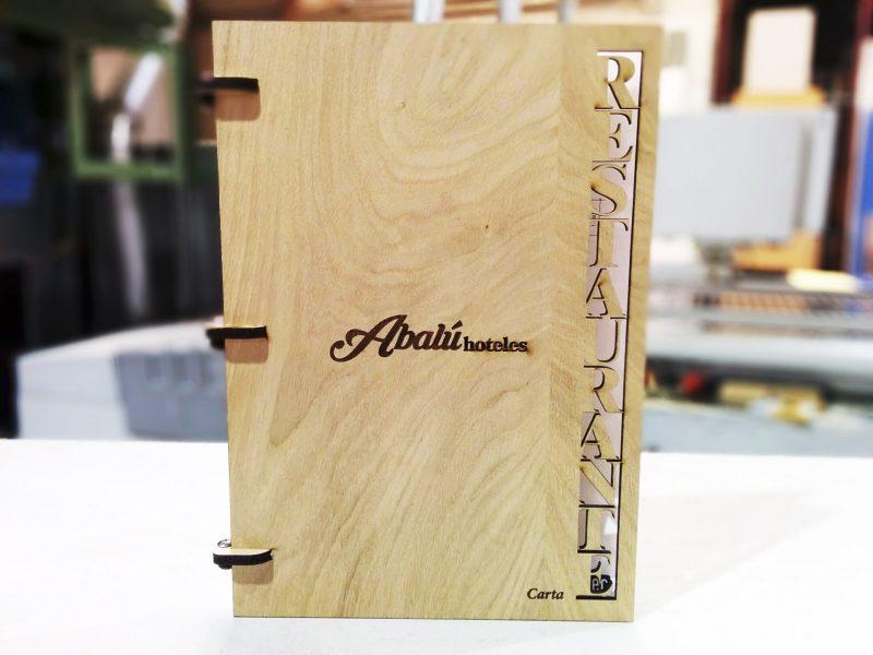 Cartas para restaurante en madera