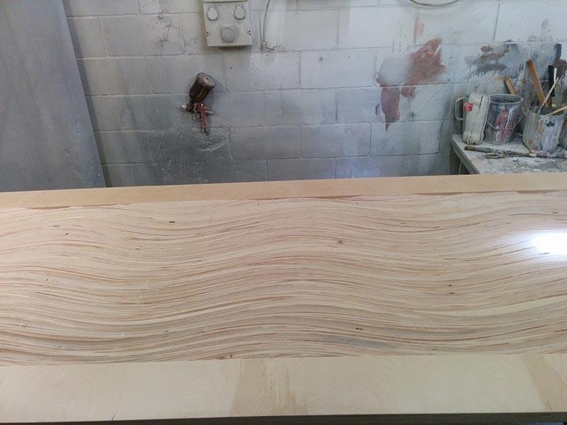 Cabecero de cama en madera de Abedul