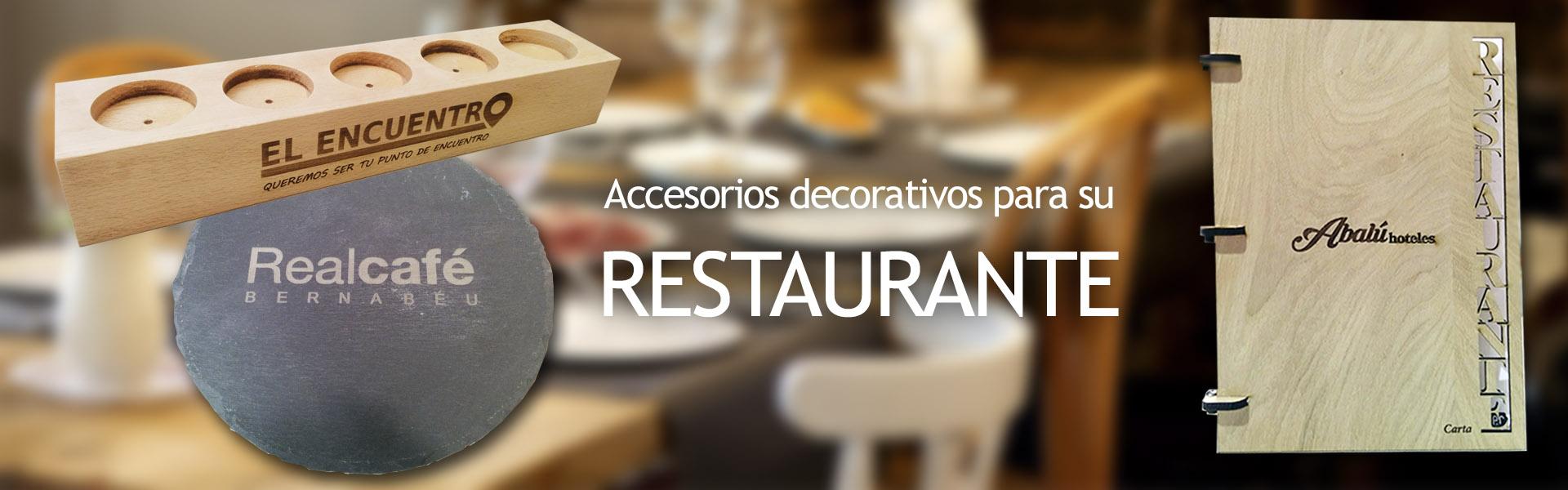 Accesorios personalizados para restaurantes