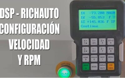DSP RichAuto – configuracion de RPM y velocidad de corte